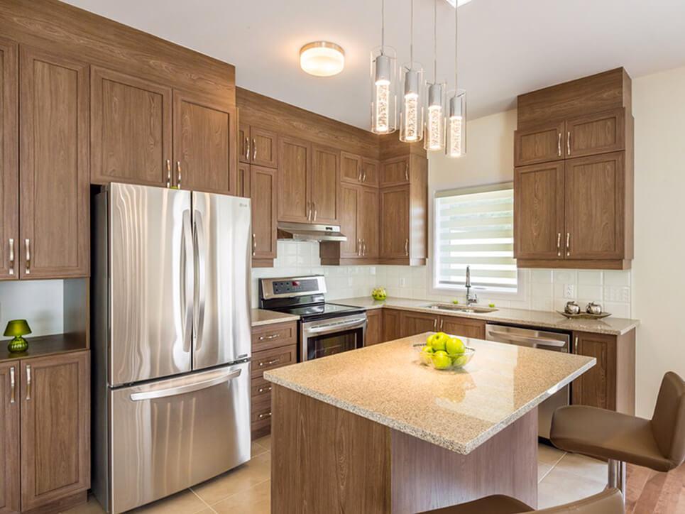 cuisine domaine evergreen montréal construction neuve projet immobilier rive nord maisons de ville