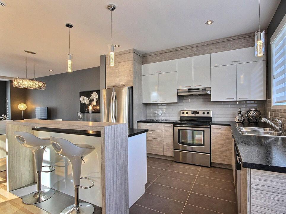 cuisine domaine des érables laval construction neuve projet immobilier rive nord maison de ville