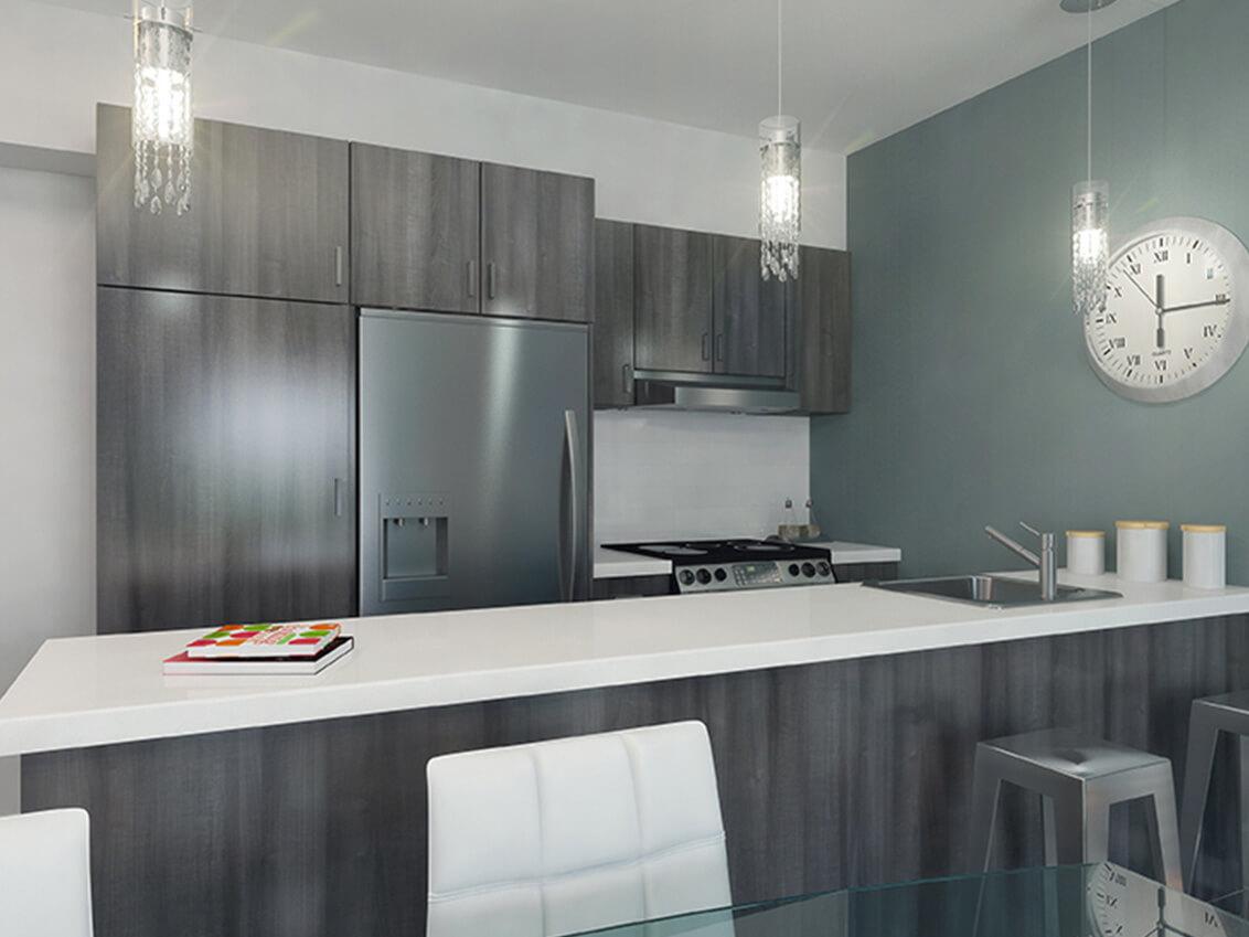 cuisine station 54 construction neuve projet immobilier rive nord condo