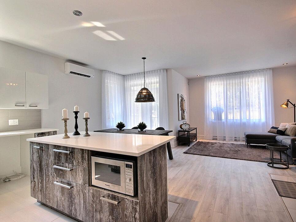 cuisine salon via blainville construction neuve projet immobilier rive nord condo