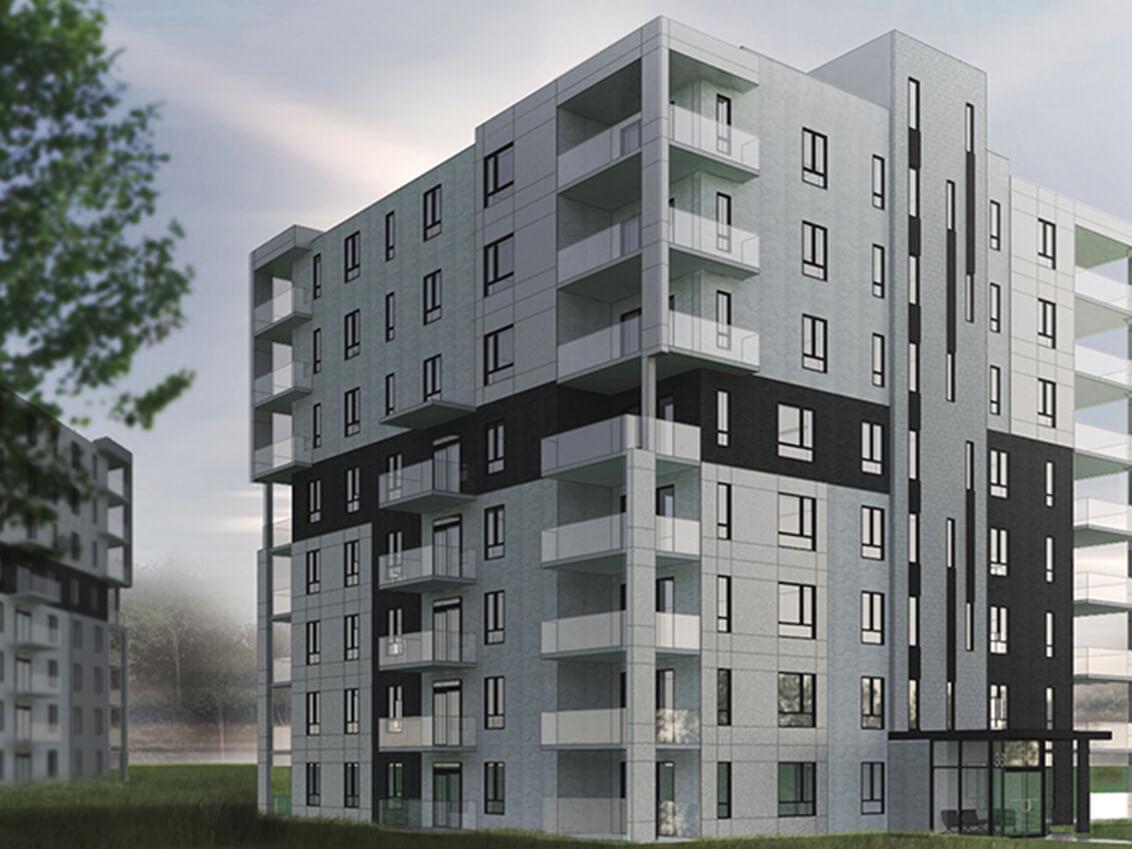 extérieur station 56 construction neuve projet immobilier rive nord condo