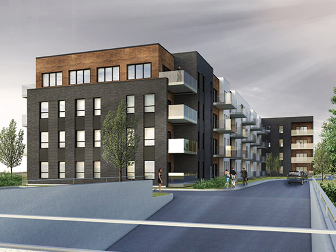 extérieur station 54 construction neuve projet immobilier rive nord condo