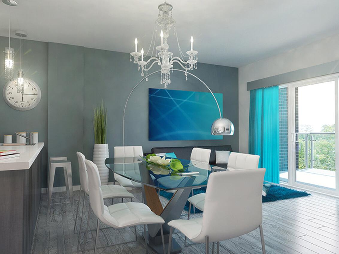 salle à manger station 54 construction neuve projet immobilier rive nord condo