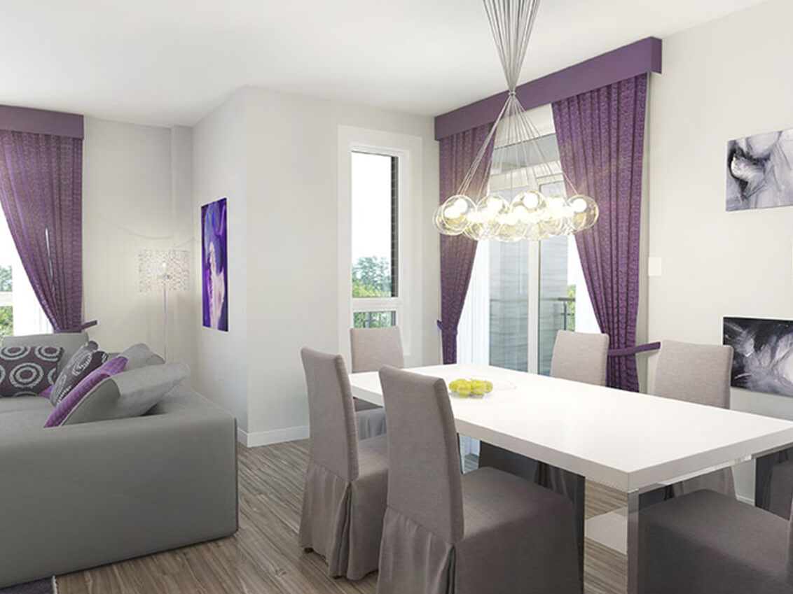 salle à manger station 56 construction neuve projet immobilier rive nord condo
