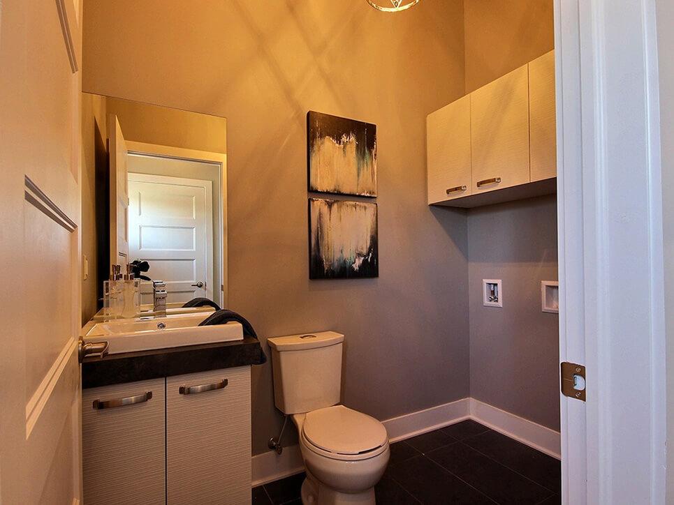 salle de lavage habitations champsfleury laval construction neuve projet immobilier rive nord semi-détaché