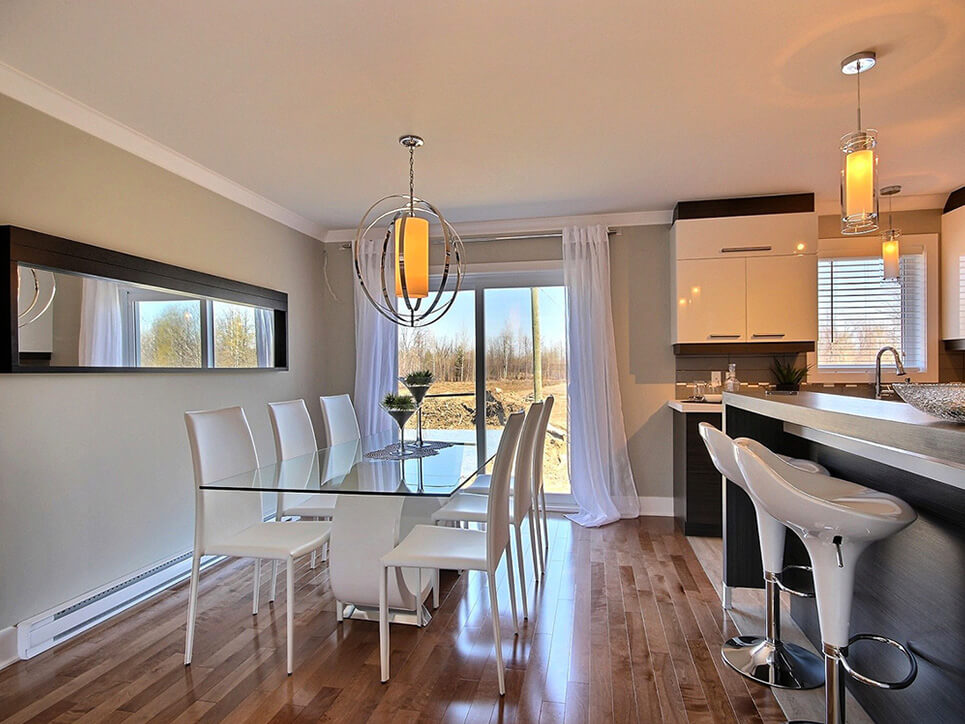 salle à manger habitations champsfleury laval construction neuve projet immobilier rive nord semi-détaché