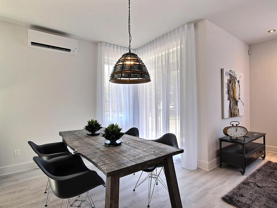 salle à manger via blainville construction neuve projet immobilier rive nord condo