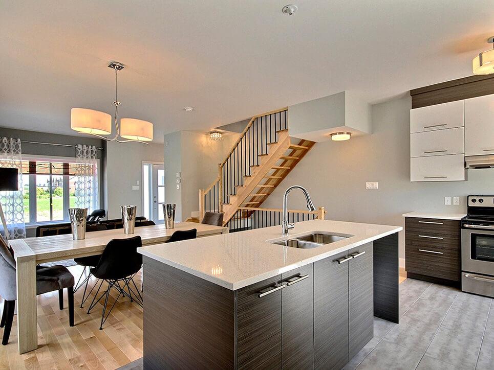 cuisine place masséna boisbriand construction neuve projet immobilier rive nord maison de ville