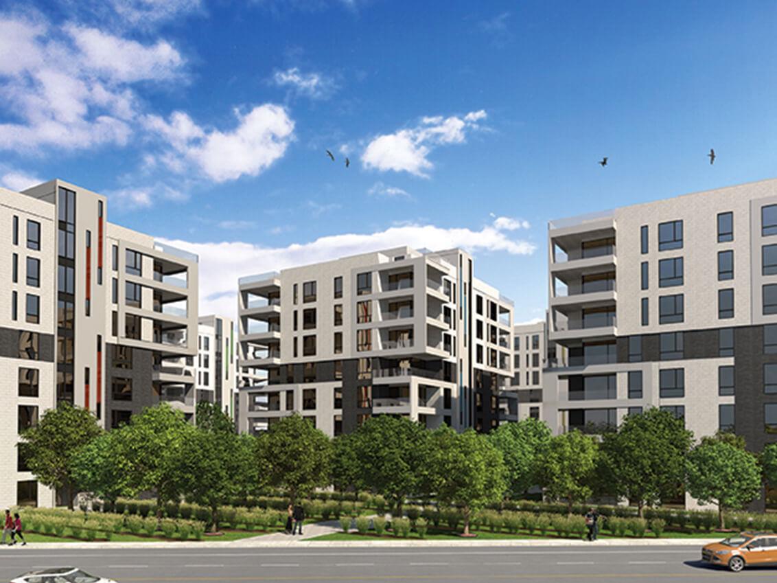 vue d'ensemble station 56 construction neuve projet immobilier rive nord condo